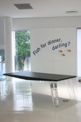 Fish for dinner, darling?